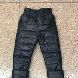Зимние брюки штаны плащевка на флисе 98-122рр
