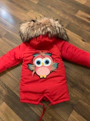 Зимняя куртка девочка 92-128