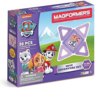 Magformers Магнитный конструктор 36 деталей Щенячий патруль Скай 66008 Paw Patrol 36 Pieces Skye Adv