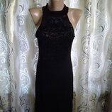 Шикарное женское платье с велюровым напылением Boohoo