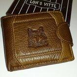 Кожа Италия Мужской кожаный кошелёк Lon s Vitte 0746