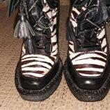 Ботинки кожаные р. 36,5 , с мехом, пони