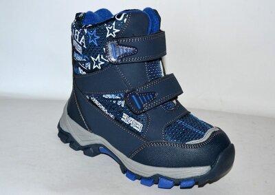 Зимние термоботинки сноубутсы ok-shoes для мальчика 27-32 р