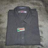 Рубашка мужская демисезонная тонкая в клетку Alphorn, размер 44 XL
