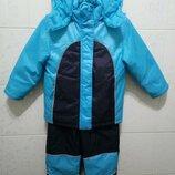 Комбинезон, зимний костюм, куртка и штаны р.104.