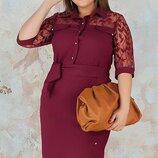 Приталенное платье Рената большого размера