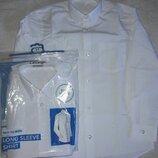 Рубашки George, с длинным рукавом белые и голубые, Slim, Regular.