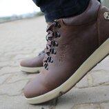 Ботинки мужские Timberland коричневые, натур. кожа