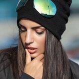 Оригинальная шапка с очками Стильная и трендовая