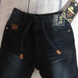 Утепленные джинсы на флисе для мальчиков 98 - 116