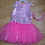 Нарядное платье с паетками с 3 до 7 лет на утренник