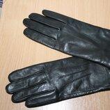 Кожаные перчатки для сенсорных экранов marks&spencer разм m