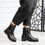Код 6124/1 Зимние ботинки Натуральная кожа Внутри шерсть Высота подошвы 3.5/1 см Высота изделия 15.5