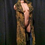 Жилетка оверсайз mango женское пальто длинный плащ миди без рукавов m l за колено