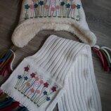 Набор шапка и шарф для девочки