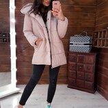 Розовая Зимняя Куртка- Зефирка