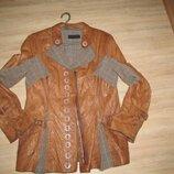 Эксклюзивная кожаная куртка-пиджак