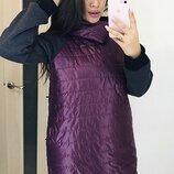 Пальто плащевка на синтепоне,трикотаж трехнитка на флисе 50-52,54-56