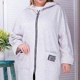 Пальто букле на велюре 58-60