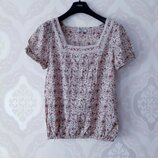 Размер М Нежная фирменная тоненькая хлопковая блузка