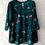 Размер М Шикарная фирменная натуральная нарядная блузка