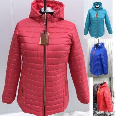 Женская куртка больших размеров 54-70 на синтепоне демисезонная sabl-547