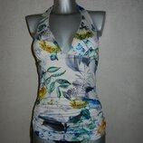 10/38/S Next белый в цветах цельный купальник платье,новый