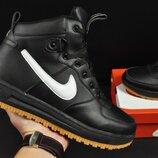 ботинки Nike Lunar Force 1 арт 20667 зимние, найк, черные