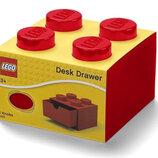 LEGO Органайзер на стол с выдвижным ящиком на 4 точки красный