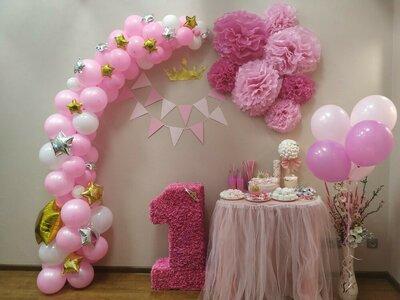 готовая фотозона для девочки принцессы на 1 годик