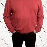 Красный пуловер реглан унисекс Marks & Spencer, большой размер L-3XL