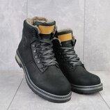 Зимние мужские ботинки Trike 099/M black, натур. кожа