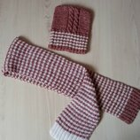 Вязаный комплект шапка шарф
