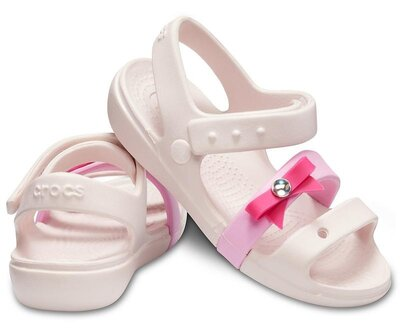 Розовые босоножки сандали кроксы crocs kids´ keeley charm sandal