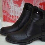 Ботинки женские зимние Украина HD 4005 зима, кожа, черный