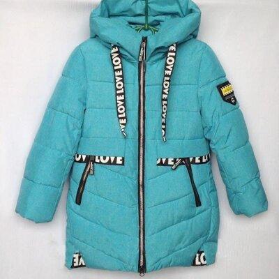 Зимняя куртка для девочки р.140