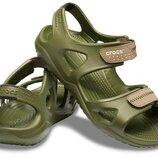 сандали крокс мужские хаки оригинал Crocs SWIFTWATER RIVER - Sandals