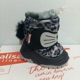 Детские ботинки, дутики зимние для малышей Olaf р. 20-25 в наличии