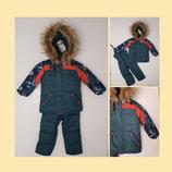 Зимний комбинезон для мальчика на овчине раздельный, 7 цветов, на р. 86-104 см. Есть видео.