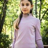 Гольф,водолазка пудрового цвета для девочек,подростков