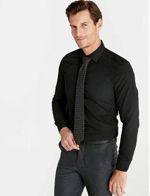 Черная мужская рубашка LC Waikiki / Лс Вайкики с черными пуговицами 1