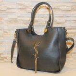 Женская серая сумка код 12-736