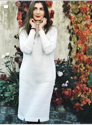 Теплое зимнее платье на флисе