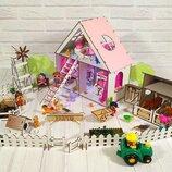 Домик для LOL. Домик для маленьких кукол Лол 2122 с мебелью, текстилем, обоями, шторками и фермой