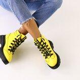 Код 6619-2 Женские ботинки Сезон зима Размеры 36 - 40 Цвет желтый Материал натуральная кожа Уте