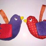 Цена за2.Mamas & Papas Подвесные игрушки,погремушки на липучке.игрушка погремушка мишка птичка