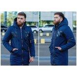 Мужская зимняя куртка 2 цвета отличное качество