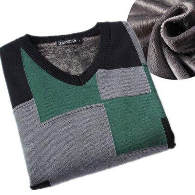 Утепленный мужской свитер