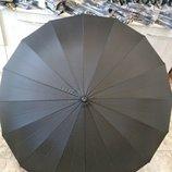 Качественный президентский зонт трость popular 134 на 16 спиц с деревянной ручкой крюк