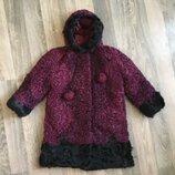 шуба куртка из мерлушки , овечки для девочки 4-6 лет